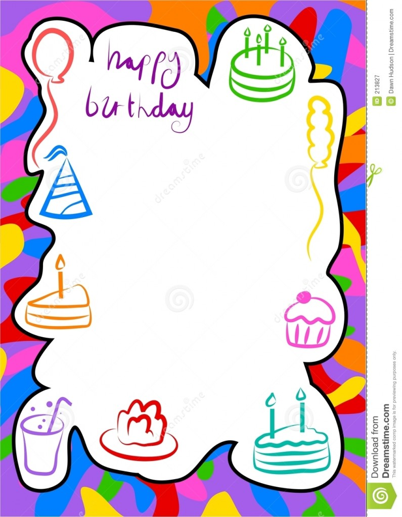 Free Birthday Border Templates Templates Quotes
