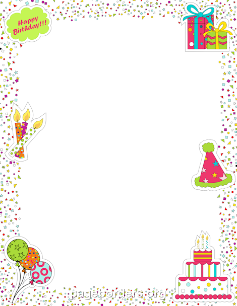 Free Birthday Borders Clip Art Page Borders And Vector Graphics