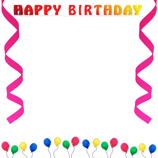 Free Birthday Borders Happy Birthday Borders