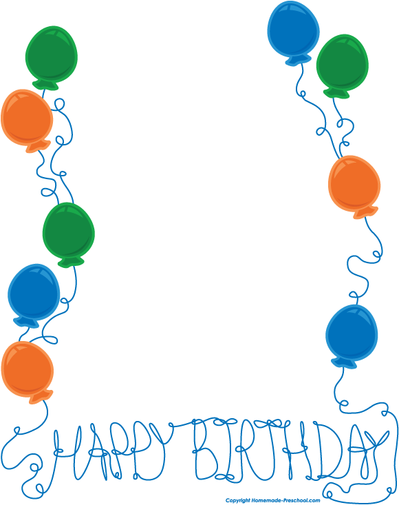Free Birthday Clip Art Borders Free Clipart Images