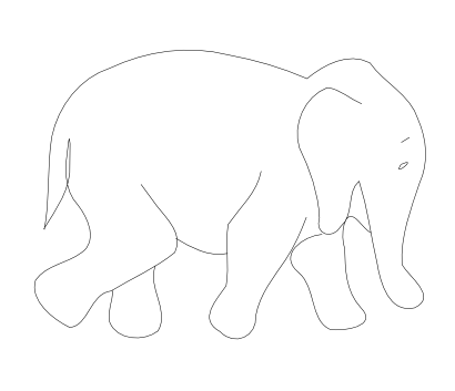 Free Clipart Of Elephant Outline Matthe R
