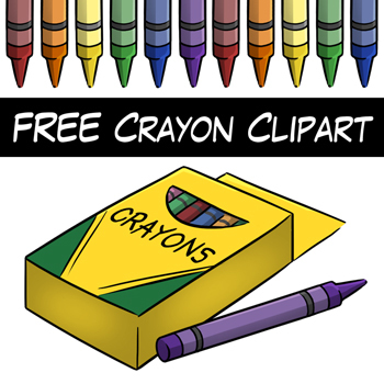 Free Crayon Clipart Teaching Resources