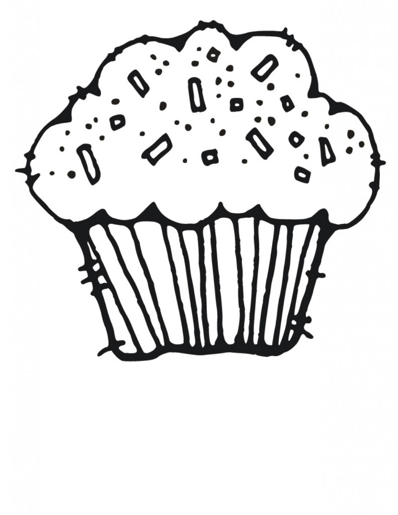Best Cupcake Clipart Black And White 5196 Clipartion