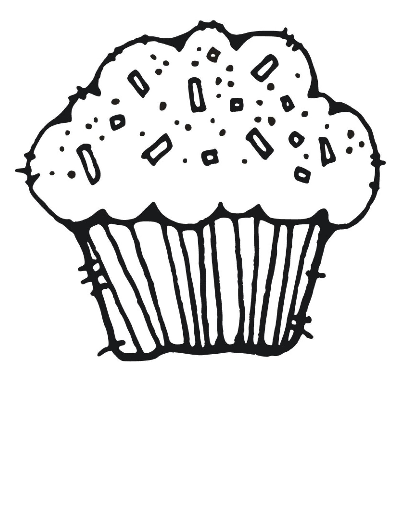 Best Cupcake Clipart Black And White 5197 Clipartion Com