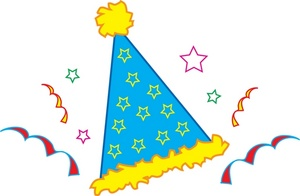 Free Party Hat Clip Art Image Birthday Party Hat With Confetti