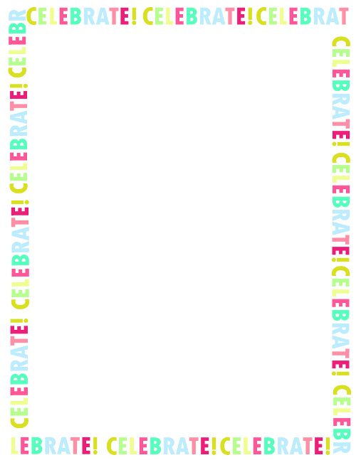 Free Printable Happy Birthday Border Png