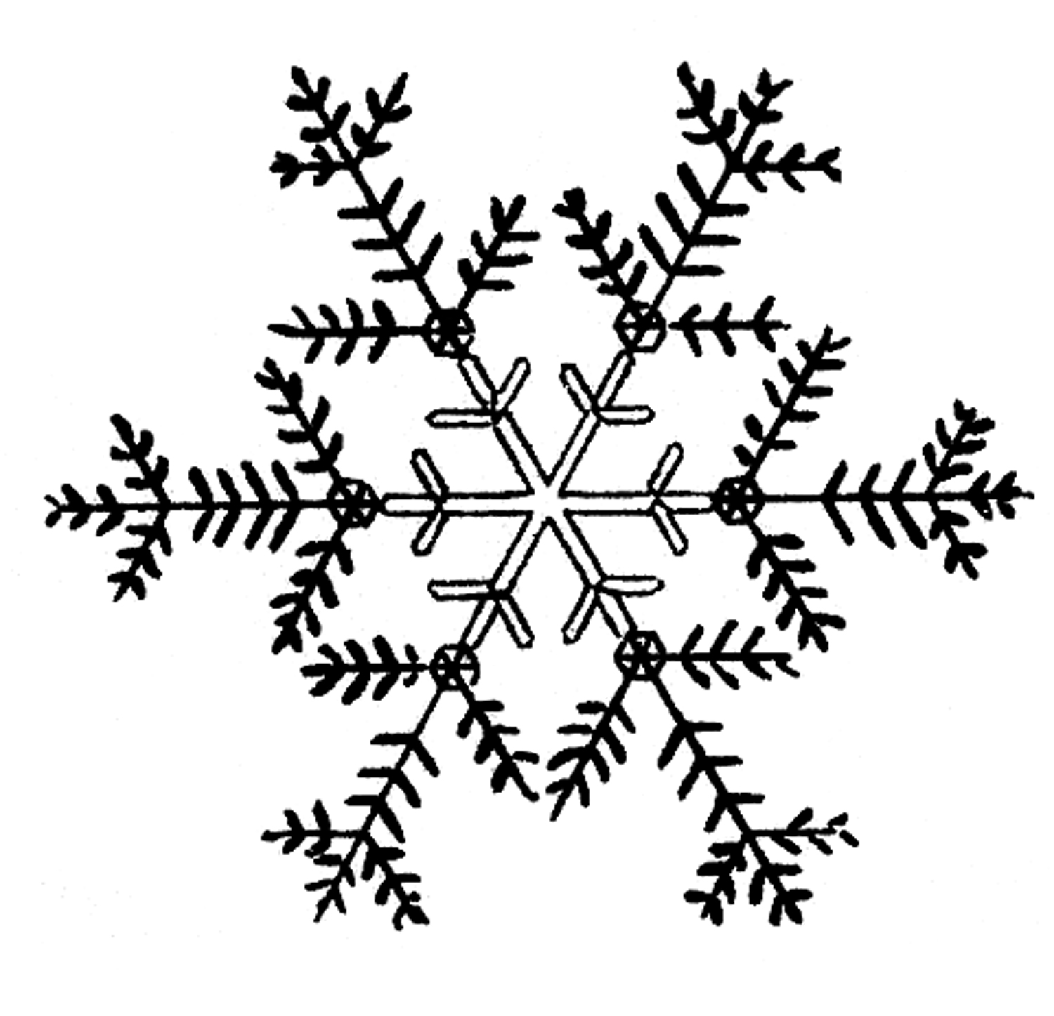 Free Snowflakes Clip Art The Graphics Fairy