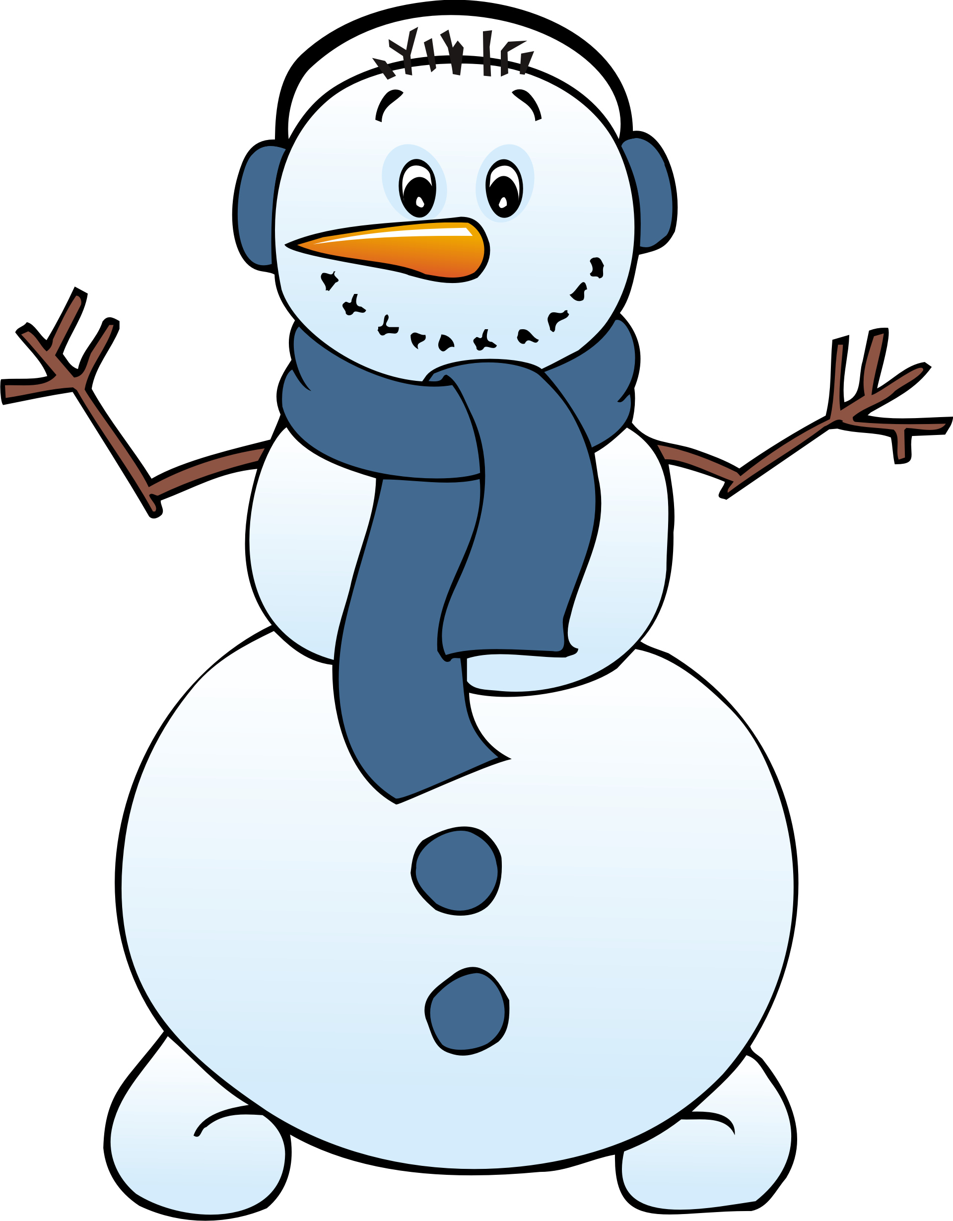 Free Snowman Clipart Black And White Free