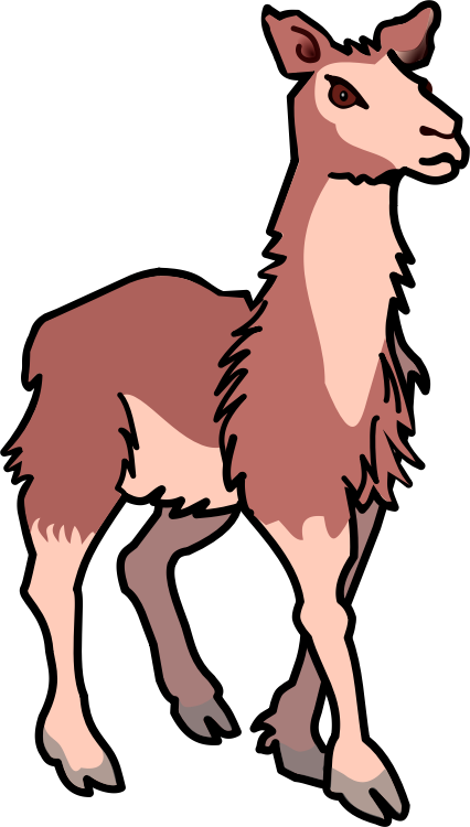 Free To Use Amp Public Domain Llama Clip Art