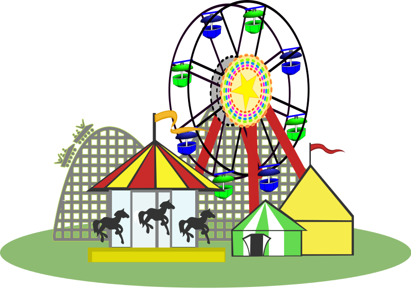Free To Use Amp Public Domain Theme Park Clip Art