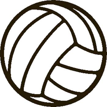 Free Volleyball Clipart Black And White Free