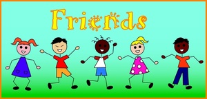 Friends Clipart Image Stick Kids Of Different Races