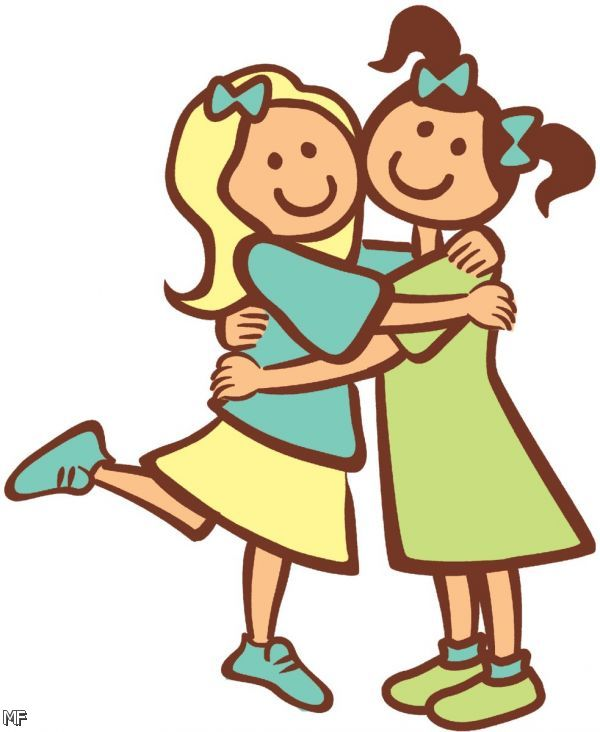 Friends Hugging Clipart 5 6 Moda 4 5