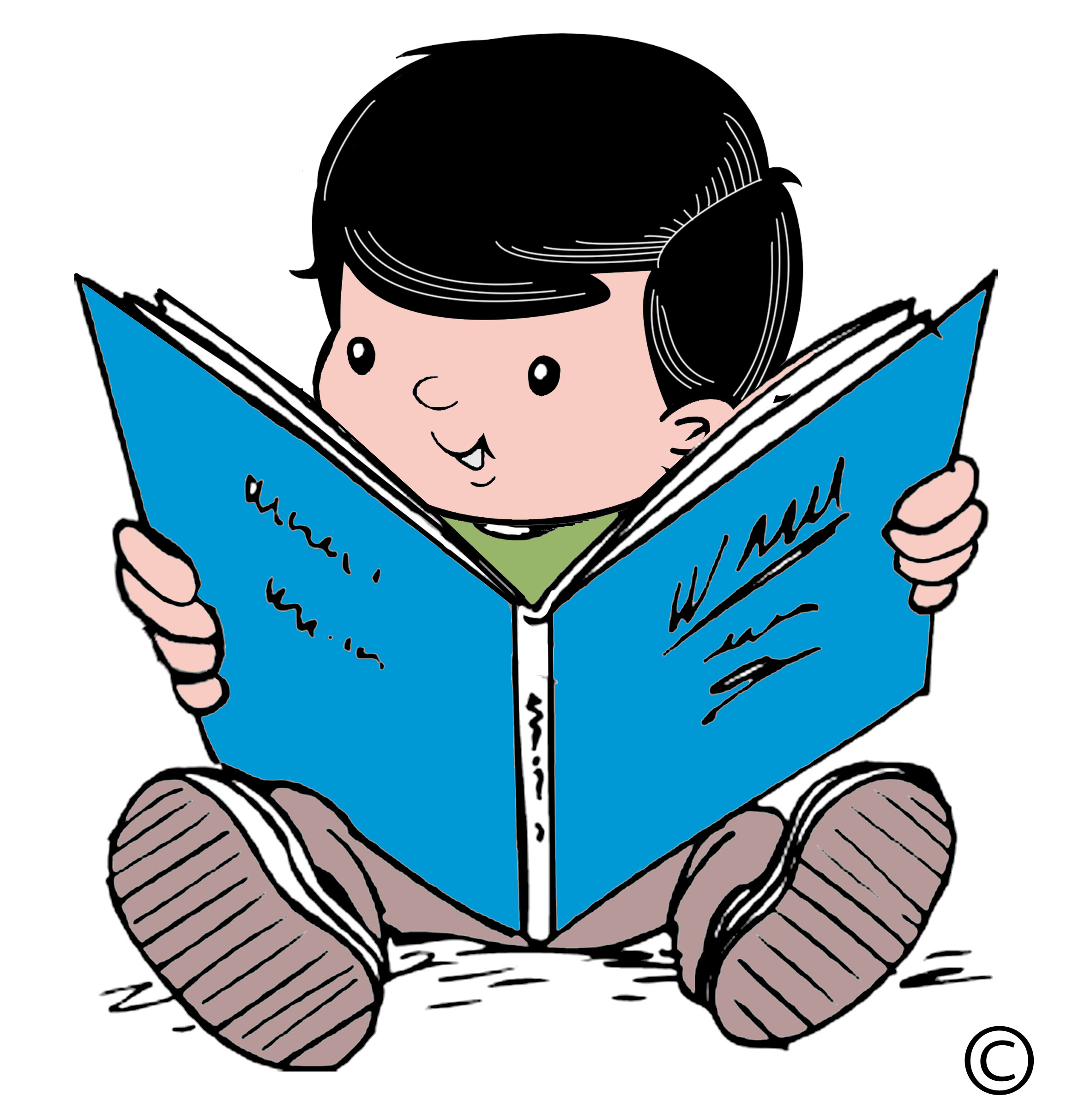 Girl Child Reading Clipart Free Clip Art Images