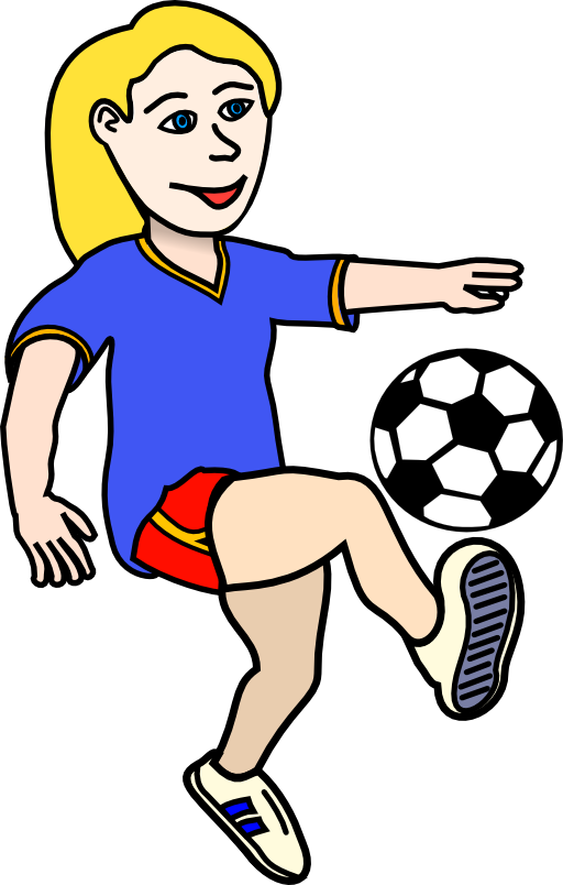 Girl Soccer Player Clipart Free Clipart Images