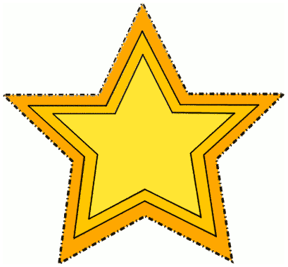 Gold Star Dotted Outline Education