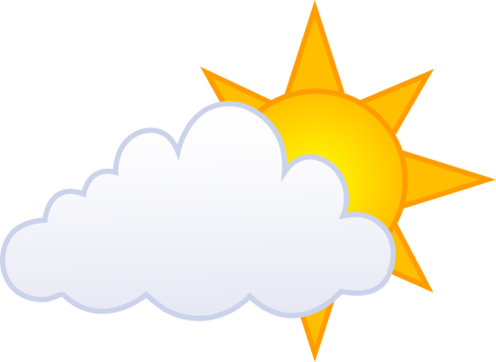 Golden Sun Behind Cloud Free Clip Art