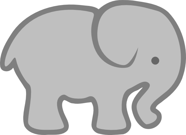 Gray Elephant Outline Clip Art At Vector Clip Art