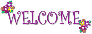 Greeting Clipart Image Clip Art Illustration Of A Welcome Banner