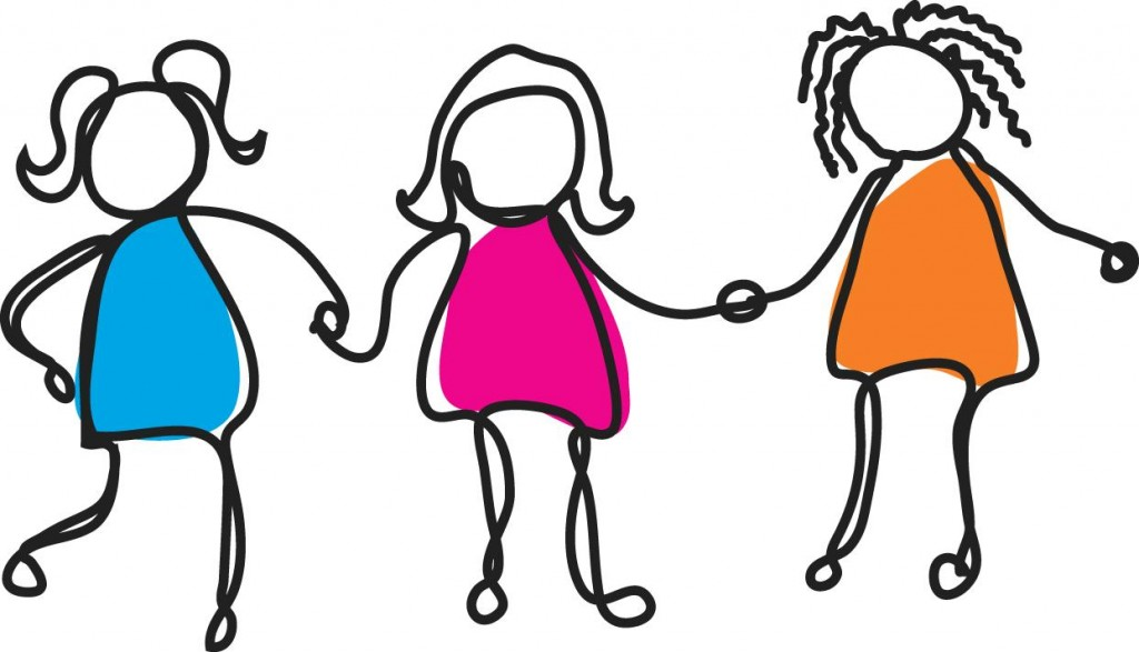 Group Of Girl Friends Clipart Free Clipart Images