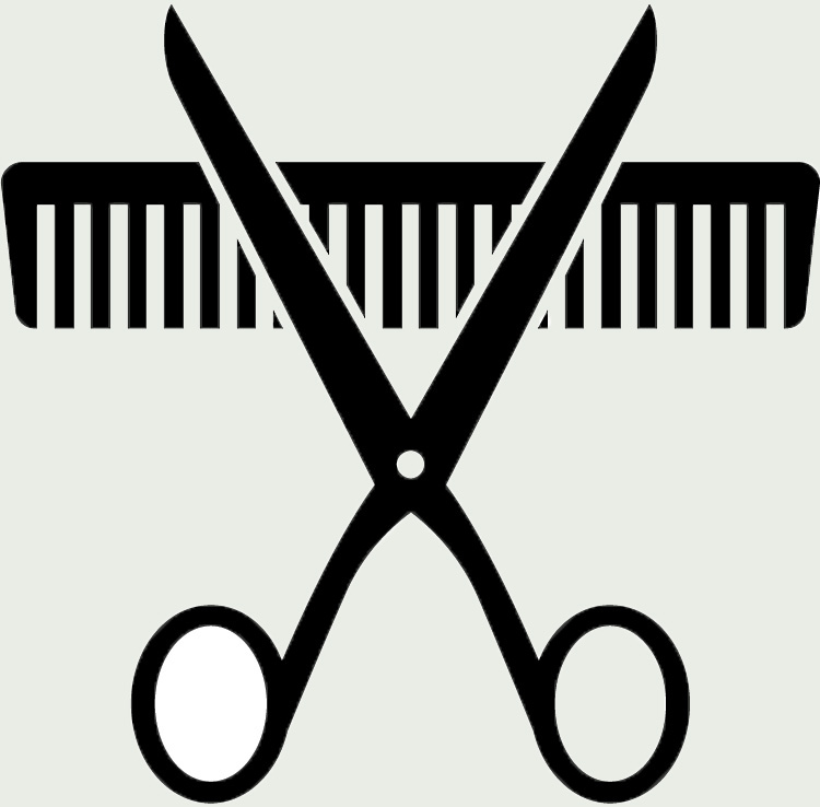 Hair Scissors And Comb Iceman Cool Pink Clipart Free Clip Art