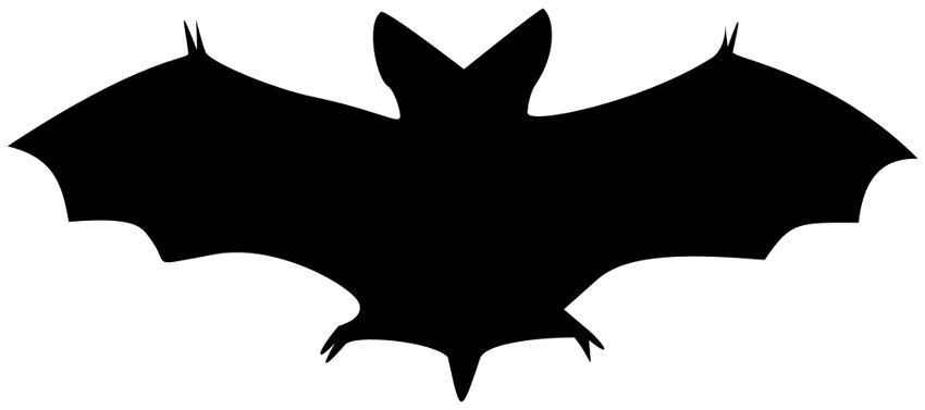 Halloween Bat Clipart Black And White Free