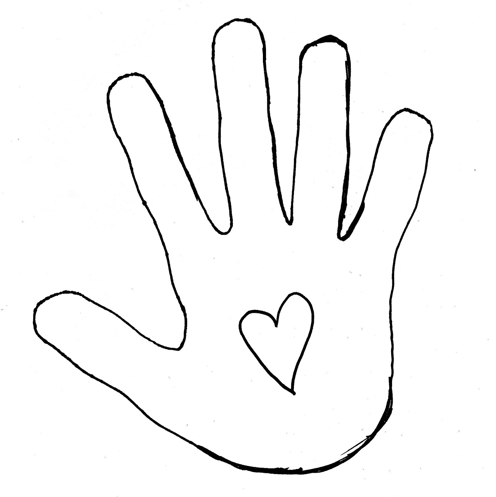 Hand Print Outline Clip Art Free Clipart Images