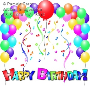 Happy Birthday Balloons Clip Art