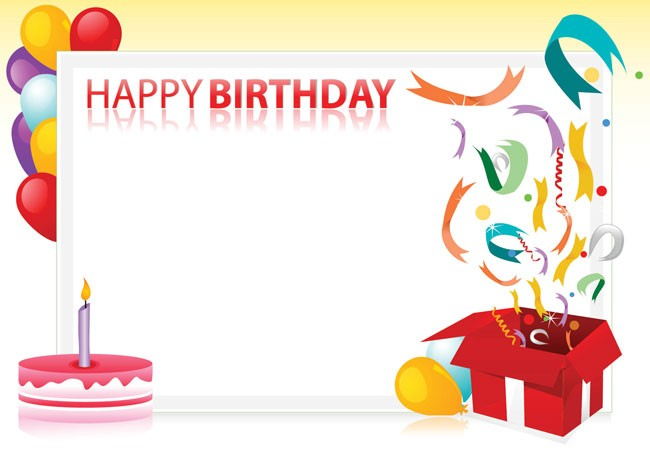 Happy Birthday Border Vector And Images For You Download Free