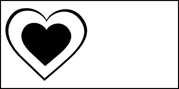 Heart Clip Art Black And White