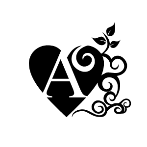 Heart Clipart Black Alphabet A With White Background Download
