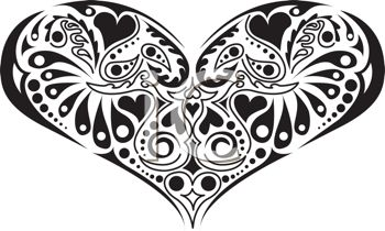 Heart Clipart Black And White Hvgj