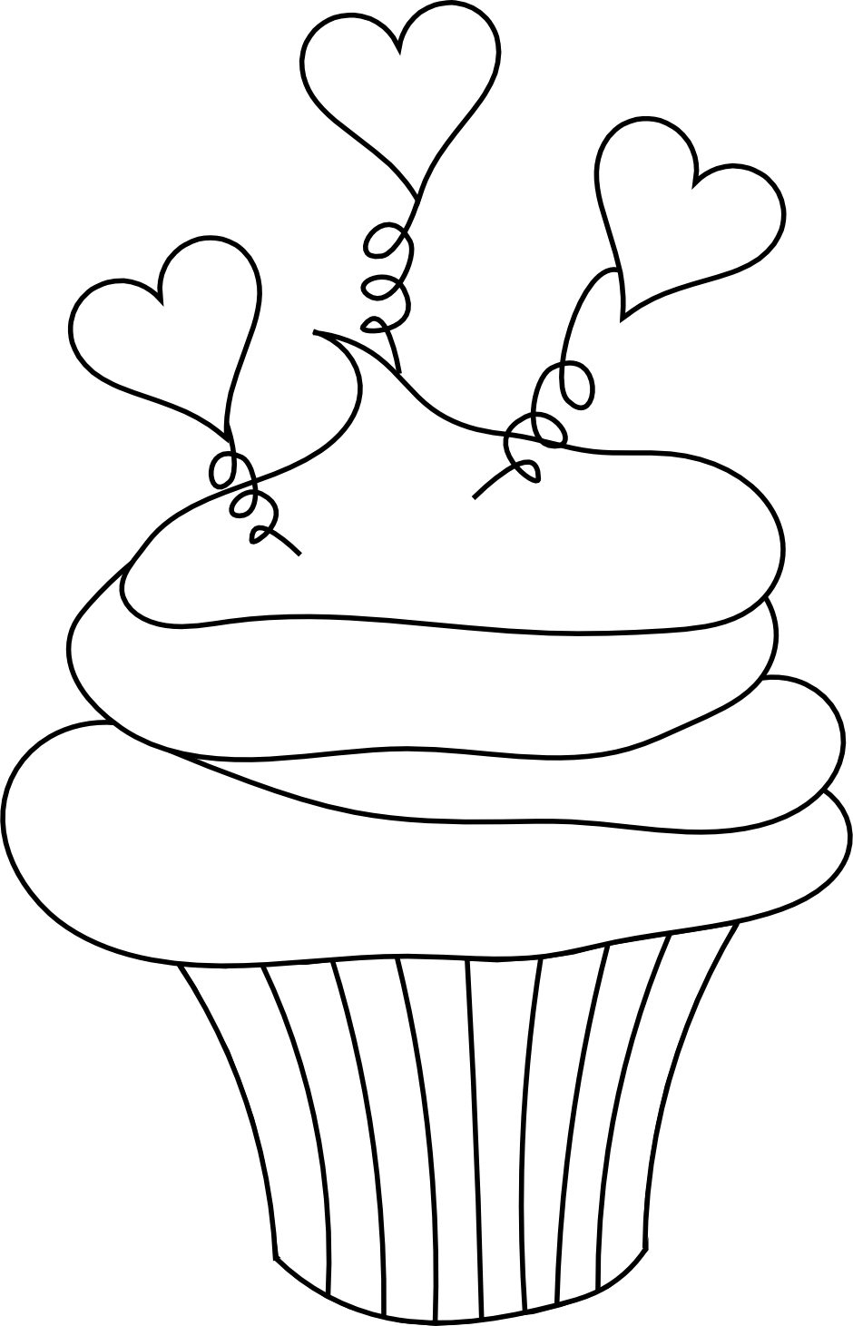 best cupcake clipart black and white 5210