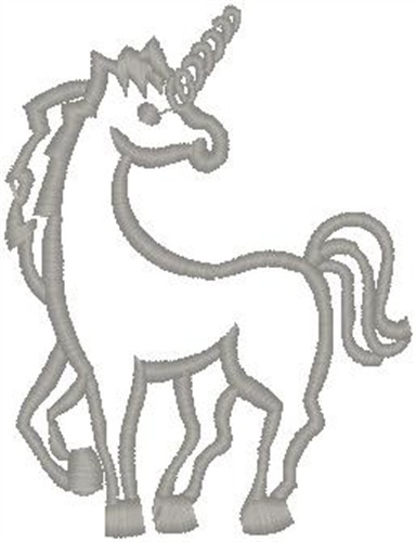 Hirsch Embroidery Design Unicorn Outline 3 Inches H X 2