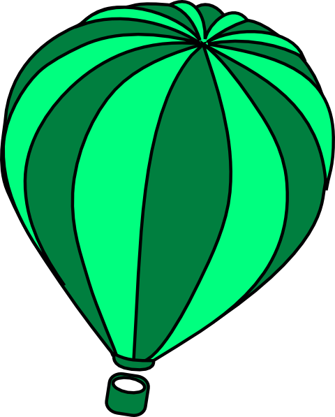 Hot Air Balloon Aqua Clip Art At Vector Clip Art
