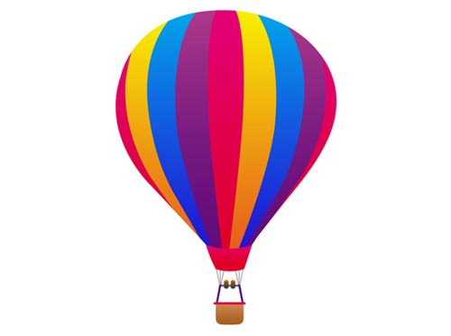 Hot Air Balloon Basket Coloring Page Free