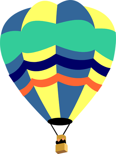 Hot Air Balloon Clip Art Outline Free Clipart Images