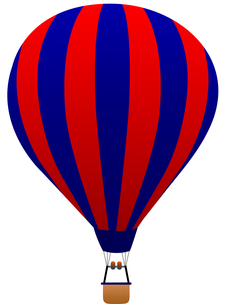 Hot Air Balloon Clipart Black And White Free