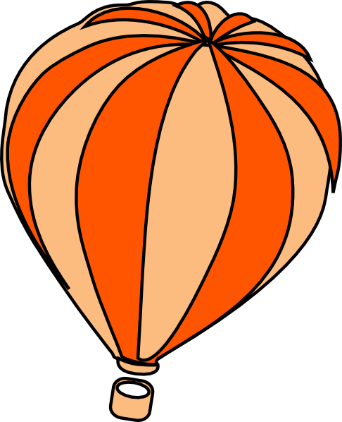 Hot Air Balloon Grey Clip Art At Vector Clip Art