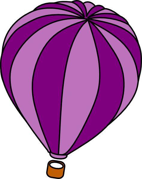 Hot Air Balloon Purple Clip Art At Vector Clip Art