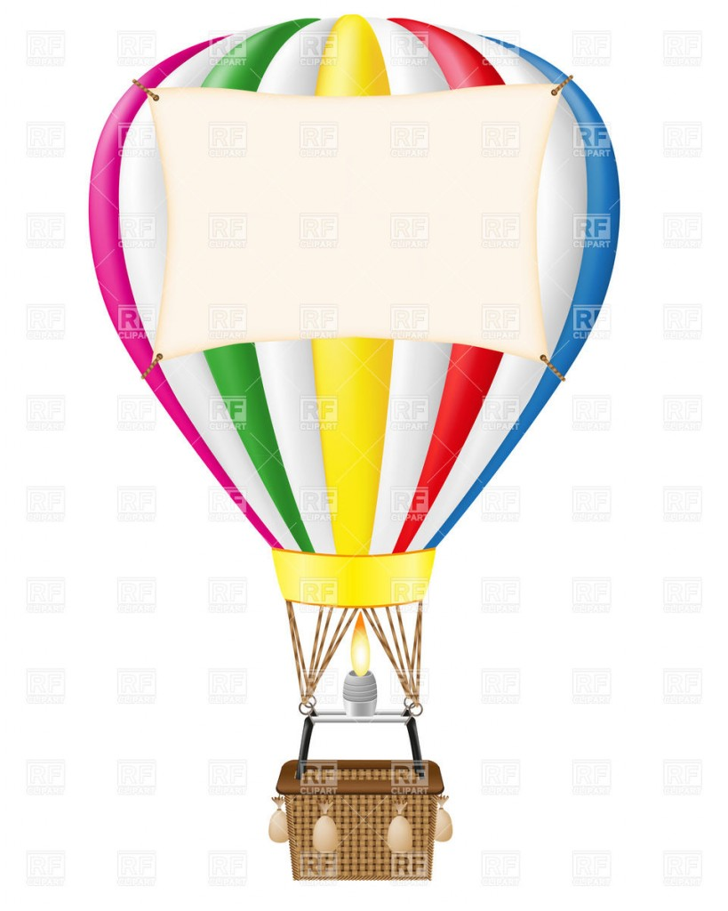Hot Air Balloon With Blank Free Clipart Images