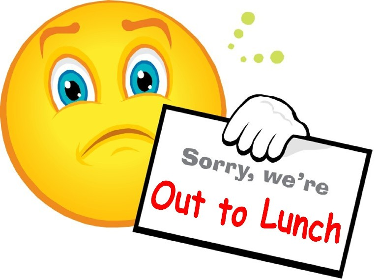 image about Printable Out to Lunch Sign titled Ideal Out In direction of Lunch Indicator #4059 -