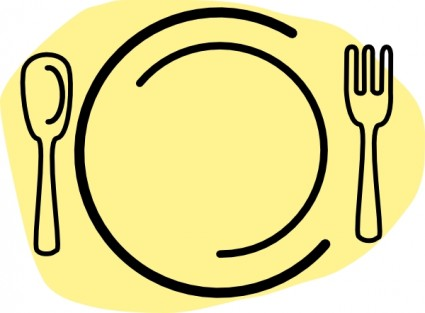 Iammisc Dinner Plate With Spoon And Fork Clip Art Free Vector In