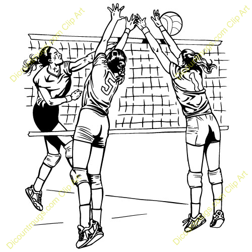 Image Gallery For Youth Volleyball Clip Art