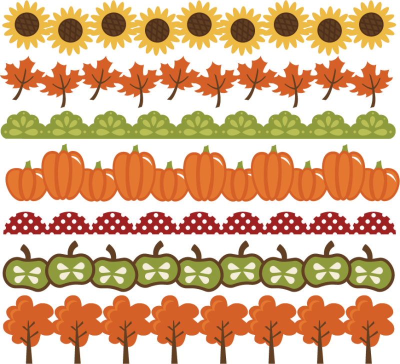 Large Fall Borders Png
