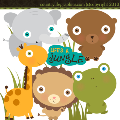 Life\'s A Jungle Clipart Animal Clipart Country Life Graphics