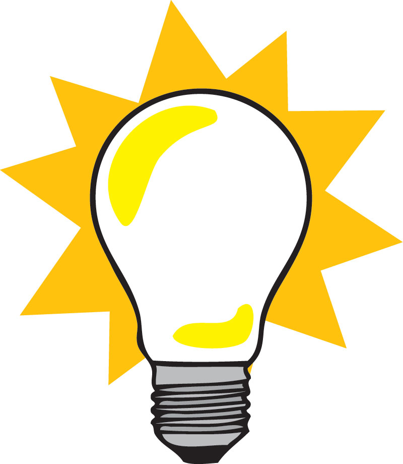 Light Bulb Clip Art Pictures to pin on Pinterest