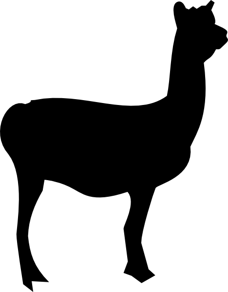 Llama Clipart Black And White