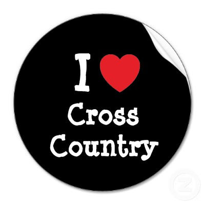 Love Cross Country Heart Custom Personalized Sticker Clipart