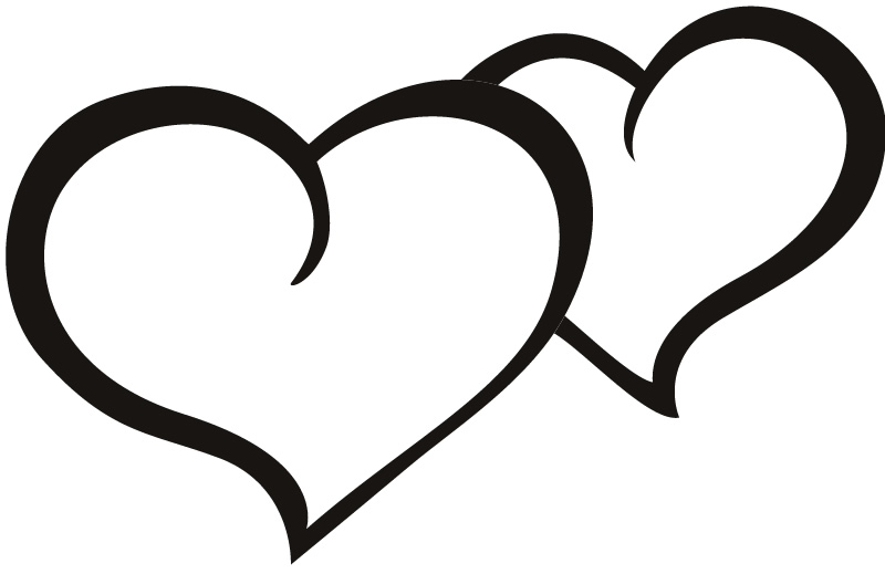 Love Heart Black Outline Images